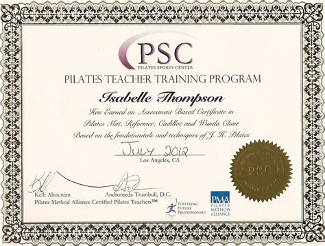 Download Pilates Instructor Programs