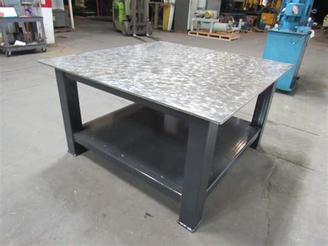 hd  thick top steel fabrication layout welding table