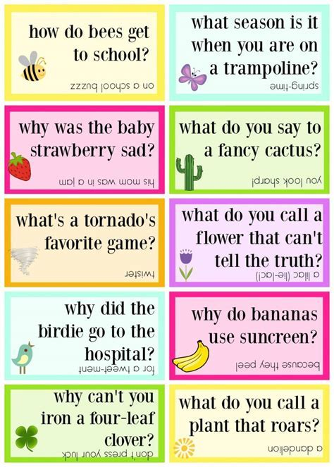 Lunch Box Jokes for Spring, FREE PRINTABLE   Sugar Bee Crafts