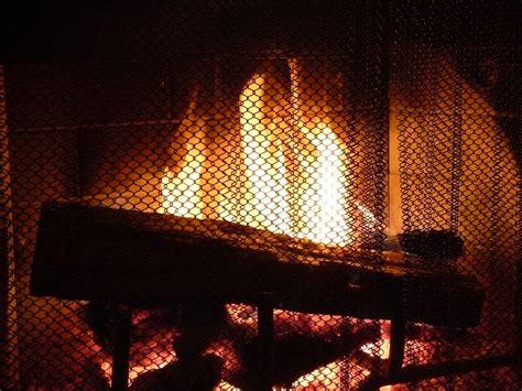 photo fireplace fire screen warm heat