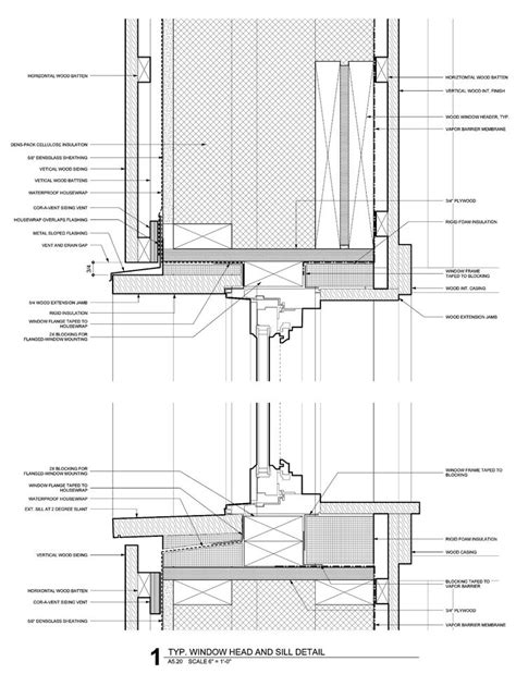 Passivhaus Window Head And Sill  Architectural Plans