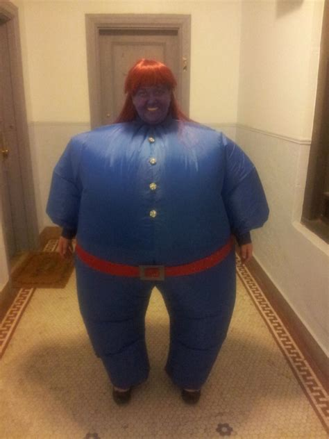 big  blue violet beauregarde willy wonka halloween