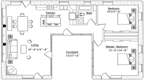 small  shaped house plans  shaped house plan