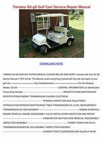 Yamaha G2 G9 Golf Cart Service Repair Manual By Sharee