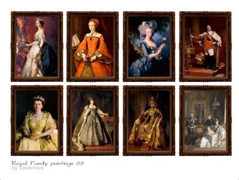 Royal Family paintings at Sims by Severinka » Sims 4 Updates