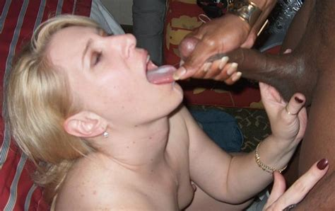 Blonde Wife Eats Black Cum Cuckold Pictures