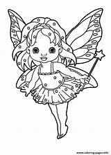 Wand Coloring Fairy Pages Holding Star Printable Tooth Lowgif Comments sketch template