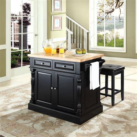 black kitchen island with stools shop crosley furniture black craftsman kitchen island with