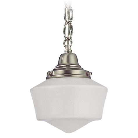 schoolhouse pendant light 6 inch schoolhouse mini pendant light with chain in satin