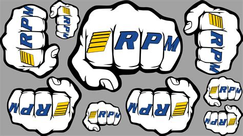 In The Face!!! Rpm Fist Logo Sheets