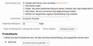 Google Adwords Kosten Berechnen : remarketing listen smartes remarketing mit google analytics ~ Themetempest.com Abrechnung