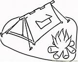 Campfire Coloring Pages Coloringpages101 Houses sketch template