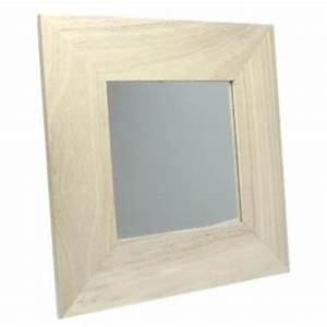 Miroir Cadre Bois : miroir carr avec cadre bois 22 x 22 cm maison pratic boutique pour vos loisirs creatifs et ~ Teatrodelosmanantiales.com Idées de Décoration