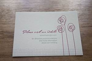 how to add wedding website to invitation advice With wedding invitation insert for website