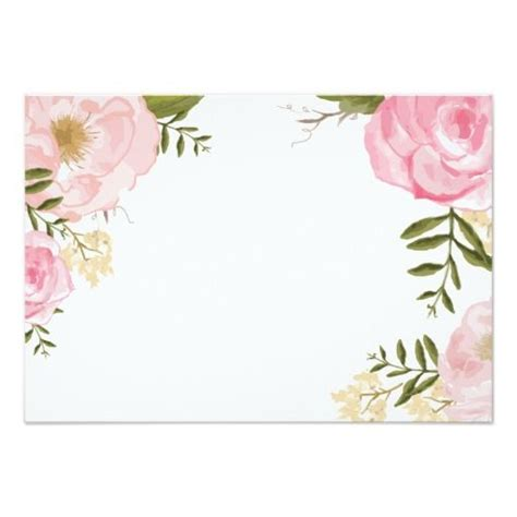 template card for funeral flowers modern vintage pink floral wedding blank card zazzle