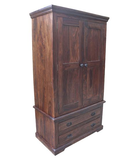 Wood Wardrobe With Drawers by Solid Wood 2 Door Wardrobe With Drawers Buy At
