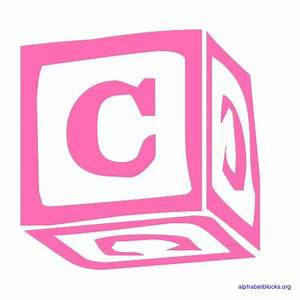 Block letter alphabets in pink alphabet blocks org for C letter block
