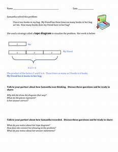 Tape Diagrams For Multiplication