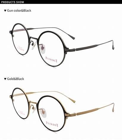 Frames Optical Titanium Round Glasses Frame Eyewear