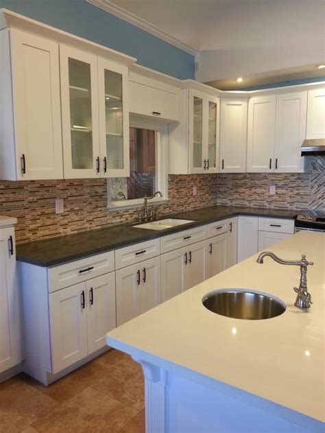 white shaker style kitchen cabinets decorating finest kitchen with catchy look by admirable 1866