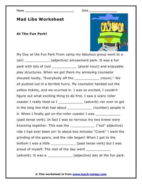 1000+ Images About Mad Libs On Pinterest  Work On Writing, Parks And Activities