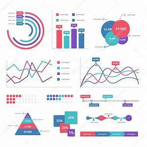 Flat Graph And Chart  U2014 Stock Vector  U00a9 Fokina Alisha Gmail Com  105818616