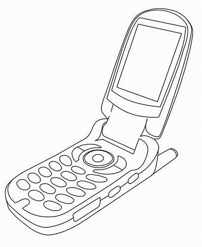 Coloring Celular Phone Cell Clipart Clip Colorir