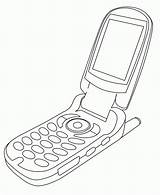 Coloring Cellphone Phone Cell Lineart Line Deviantart Coloringhome 2008 sketch template