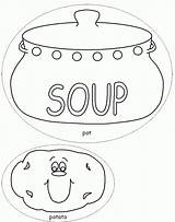Soup Coloring Stone Template Potato Colouring Pot Printable Bowl Vegetable Soups Sheets Templates Sketch Dltk Crafts Popular Craft Chocolate Coloringhome sketch template