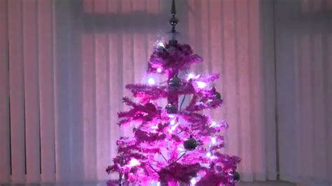 pink snowing christmas tree youtube