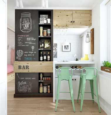 meuble pour separer cuisine salon bar coin repas multifonctions pour séparer cuisine et salon