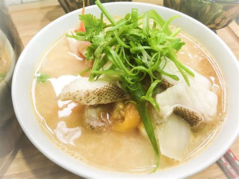 soup fish grouper head recipe noodle rice malaysian chinese fried