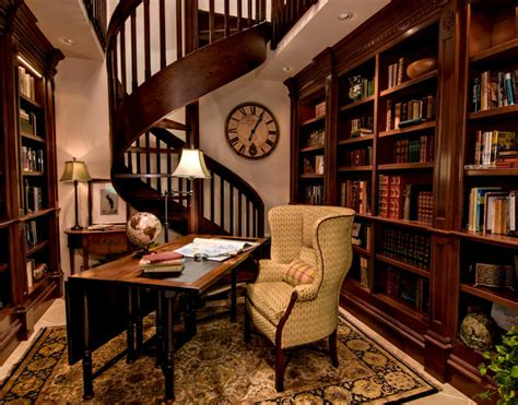 home office library traditional library