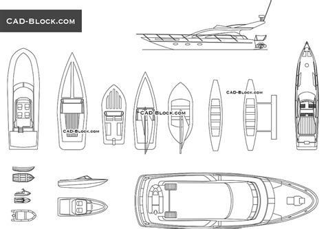Boat Front View Drawing by Yacht Cad Block Boats Drawings Plans Autocad File