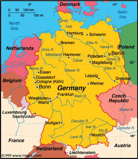 Main borders are austria, belgium, czech republic, denmark. Countries of the world: Germany