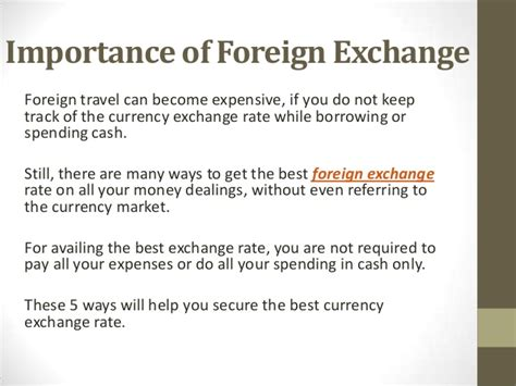 foreign exchange best rates 5 ways to get best foreign exchange rate