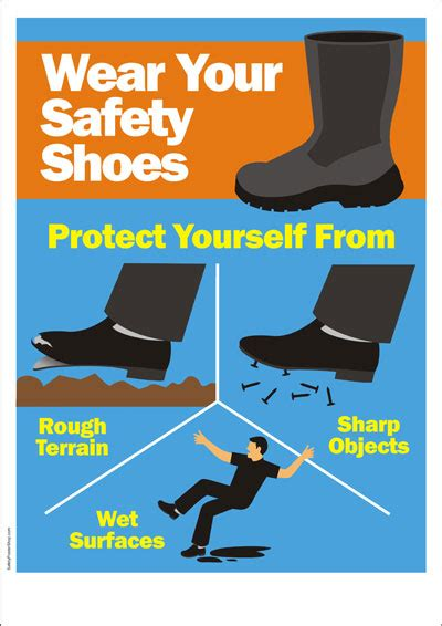 safety poster wear  safety shoes safety poster shop