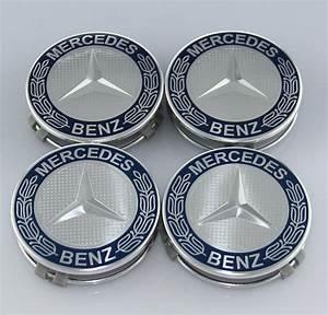 Mercedes Benz Cap : 4 pc set mercedes benz wheel center caps emblem dark blue ~ Kayakingforconservation.com Haus und Dekorationen
