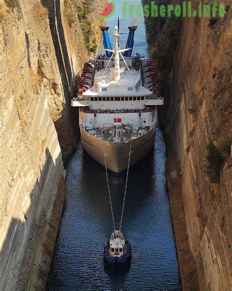 Korintas kuģu kanāls - šaurāko pasaulē