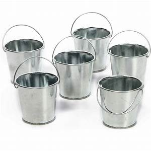 Elegant, Expressions, Set, Of, 6, Mini, Galvanized, Buckets, Only, 3, 88