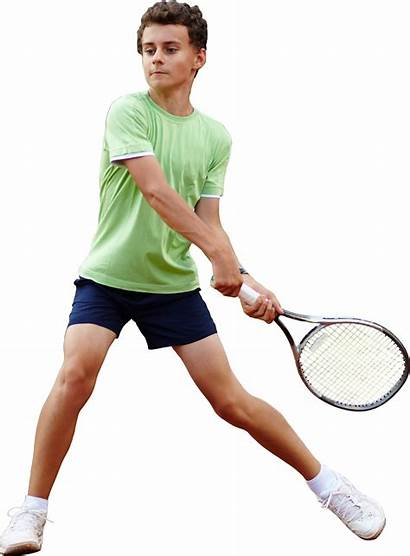 Tennis Boy Player Playing Sports Transparent Youth