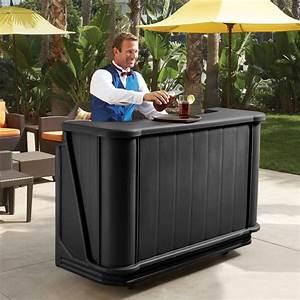 Cambro, Bar650110, Black, Cambar, 67, U0026quot, Portable, Bar, With, 7