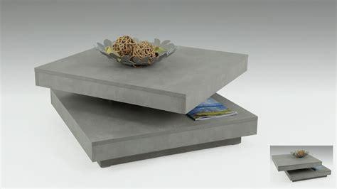 Tisch Mit Drehbarer Platte by Couchtisch Ben In Betonoptik Tisch Drehbare Platte