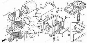 Honda Atv 2007 Oem Parts Diagram For Air Cleaner   U0026 39 06