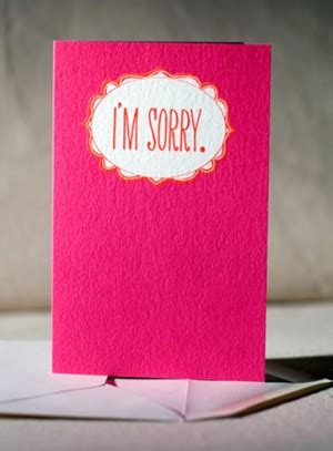 stationery   apology cards