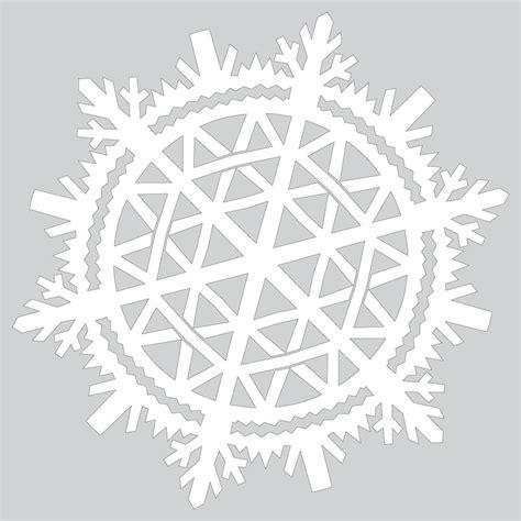beautiful paper snowflake tutorial template