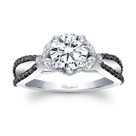 Barkev's Black Diamond Engagement Ring 8062lbk  Barkev's