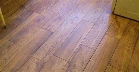floor installation photos wood look porcelain planks install