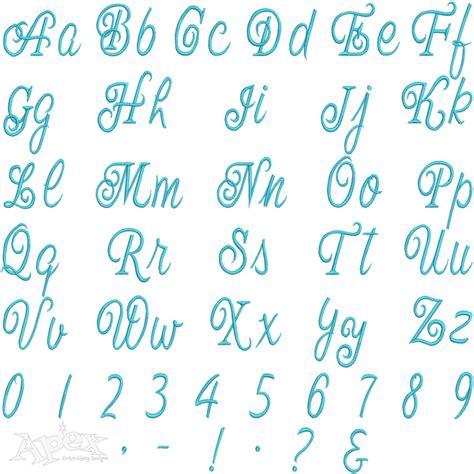 fancy script embroidery fonts