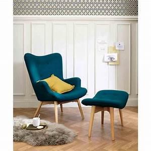 Repose Pied Salon : pouf repose pieds style scandinave bleu p trole fauteuil chaise banc pinterest fauteuil ~ Teatrodelosmanantiales.com Idées de Décoration